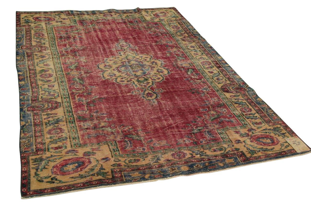 Vintage vloerkleed rood 258cm x 180cm nr11245