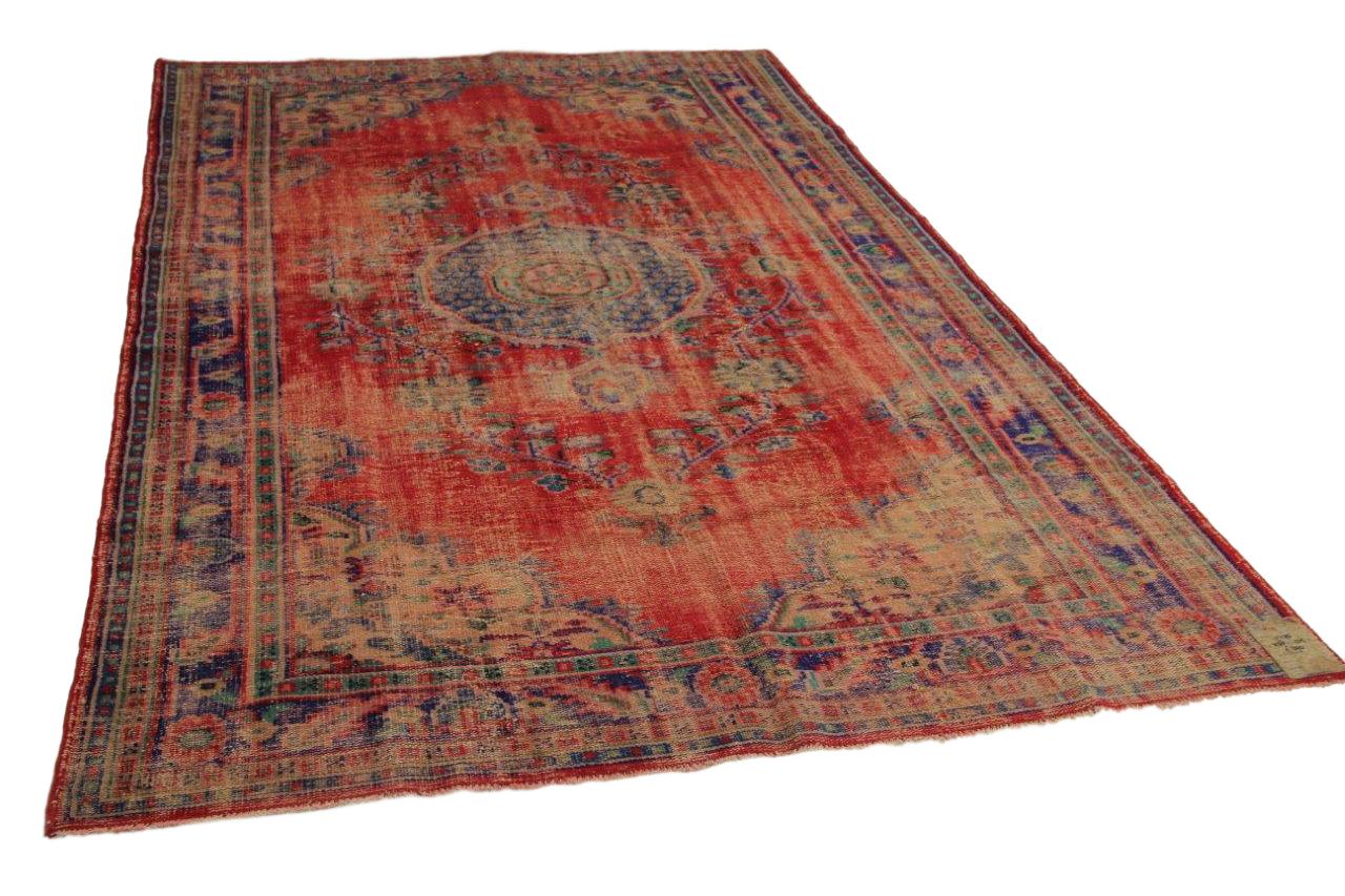 Vintage vloerkleed rood 338cm x 205cm nr11275