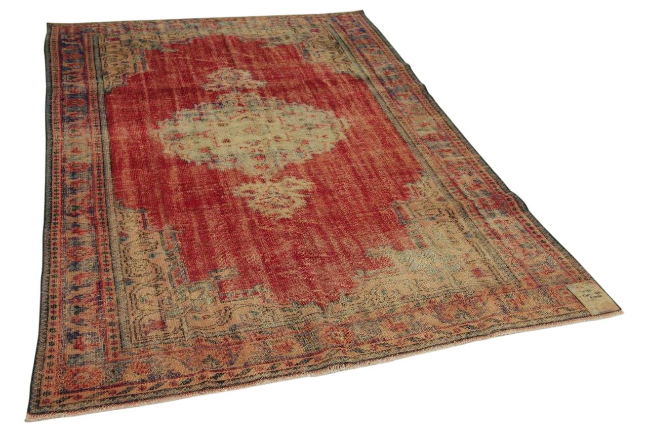 Vintage vloerkleed rood 270cm x 178cm nr11281