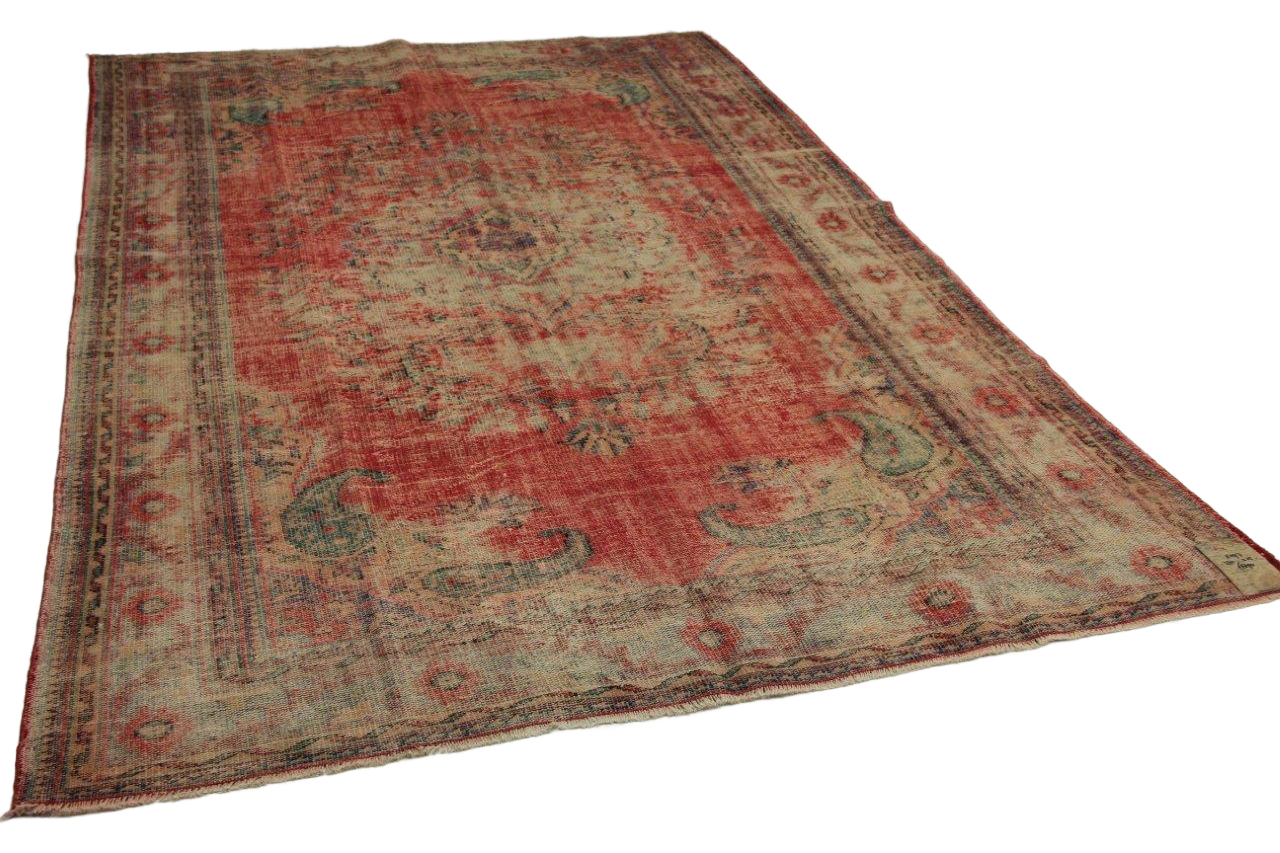 Vintage vloerkleed rood 330cm x 215cm nr11297