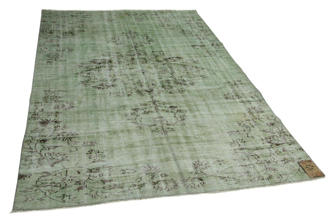 Vintage vloerkleed groen 281cm x 185cm nr14439