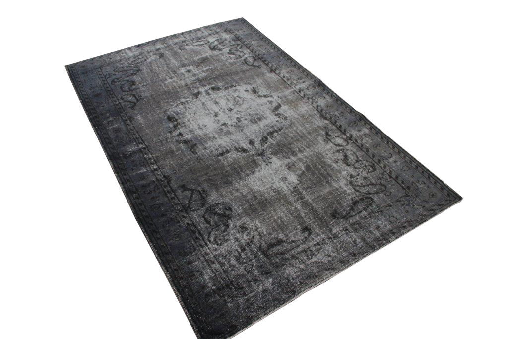 Donker grijs blauw vloerkleed nr 1578 (274cm x 176cm) Gratis bezorging, niet tevreden is geld terug!