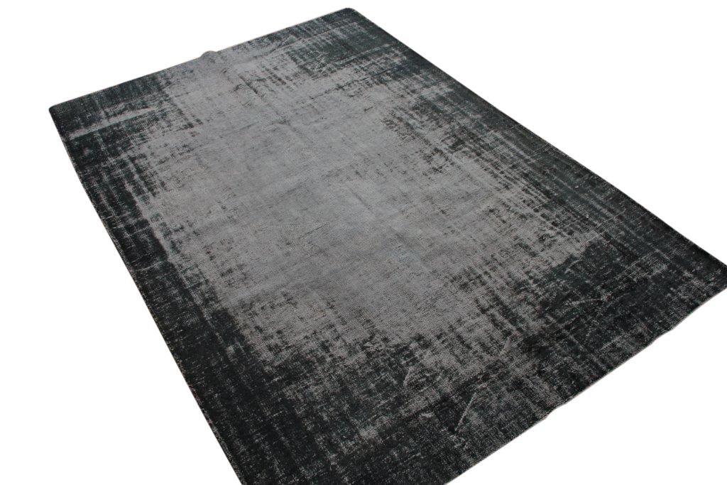 Geschoren donkerblauw vloerkleed nr 1735 (290cm x 200cm) Gratis bezorging, niet tevreden is geld terug!