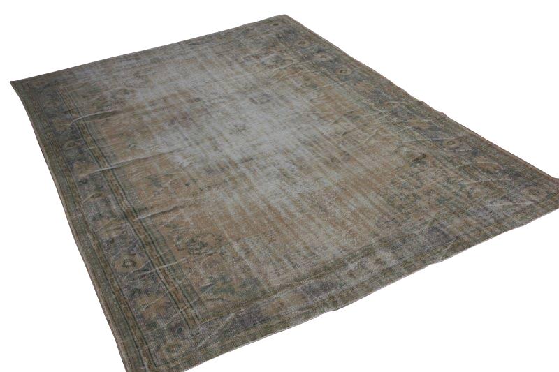 Zandkleurig vintage vloerkleed 297cm x 221cm  (nr 1792)
