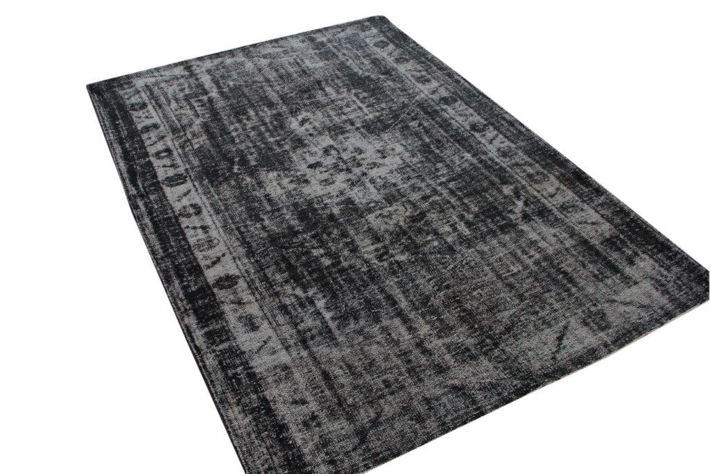 Vintage vloerkleed, zwart, 267cm x 184cm