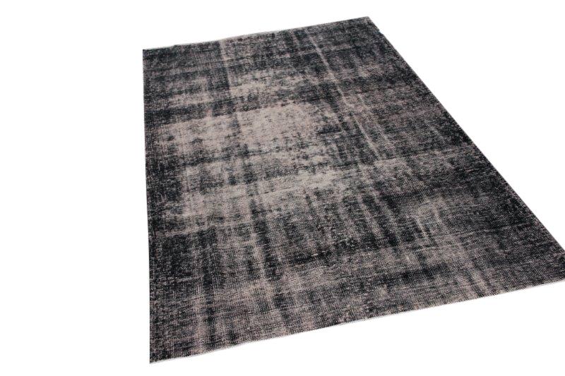 Vintage vloerkleed, donker grijs, 273cm x 171cm