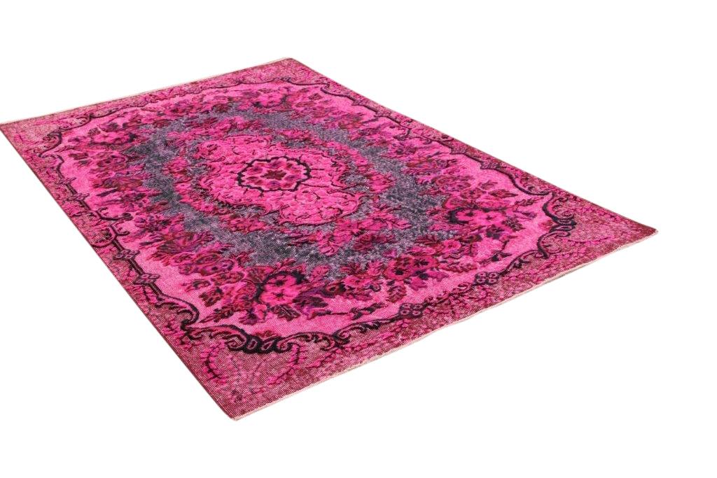 Paars-roze vintage vloerkleed 273cm x 166cm nr2539