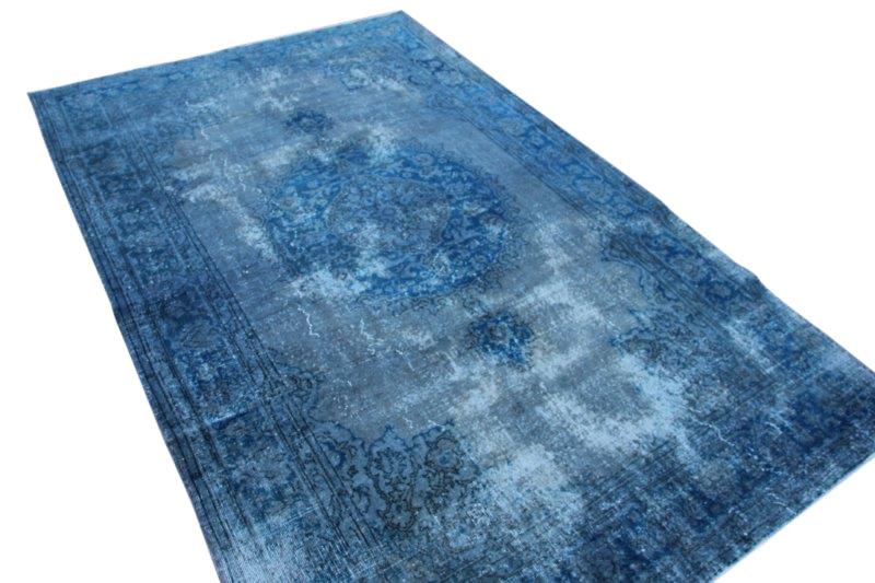 Blauw vintage vloerkleed 315cm x 198cm  (nr2798)