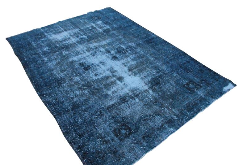 Blauw vintage vloerkleed 302cm x 218cm  (nr2774)