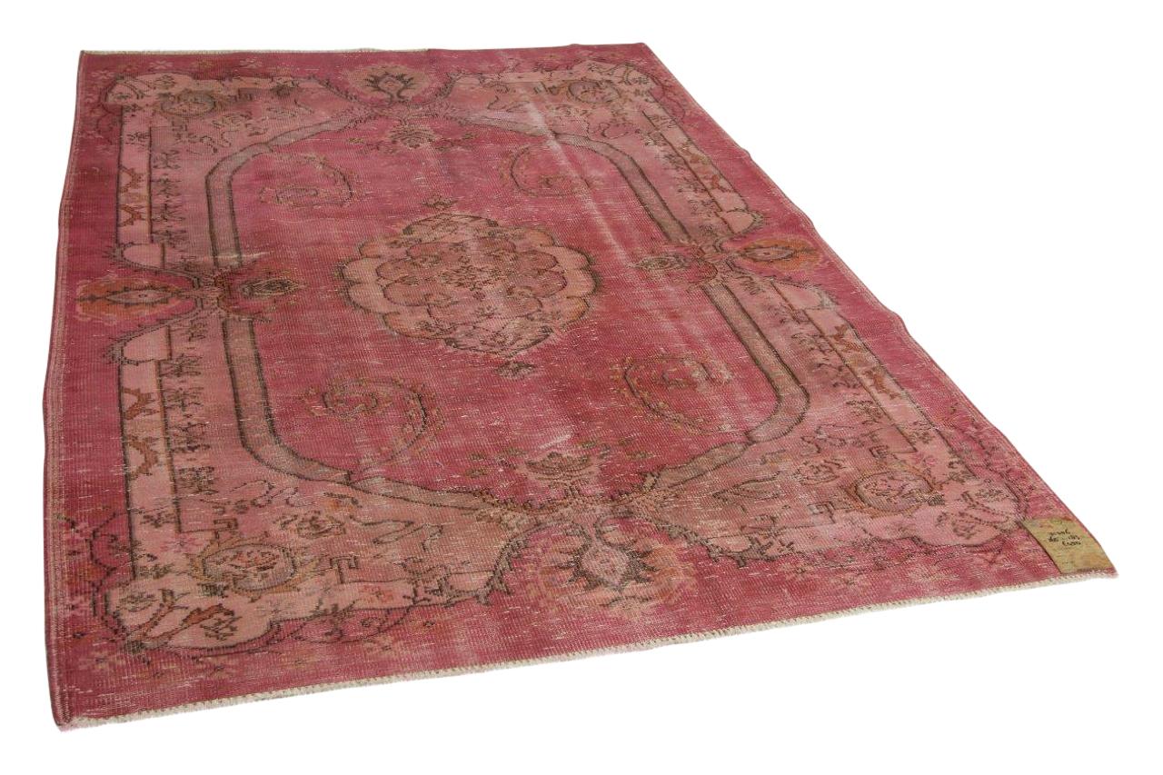 Vintage vloerkleed roze 265cm x 183cm nr31356