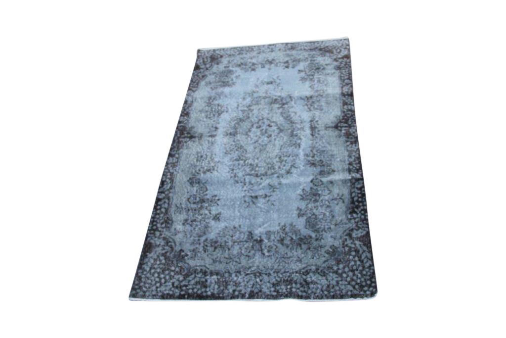 NIEUW INGEKOCHT grijs vintage vloerkleed  uit Turkije 212cm x 115cm, no 4611