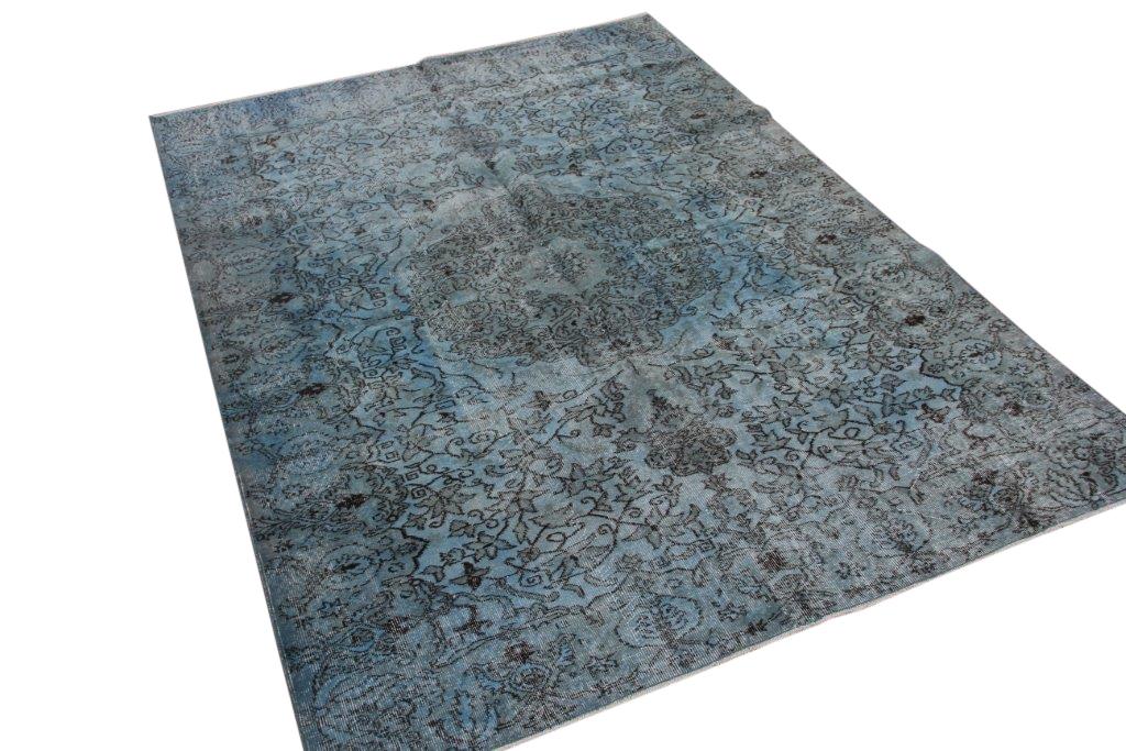 Blauw vintage vloerkleed 256cm x 188cm  (nr4879)