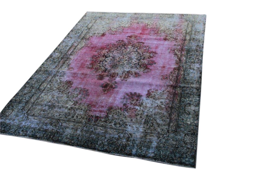 NIEUW INGEKOCHT vintage vloerkleed  uit het Midden Oosten 271cm x 194cm, no 52551