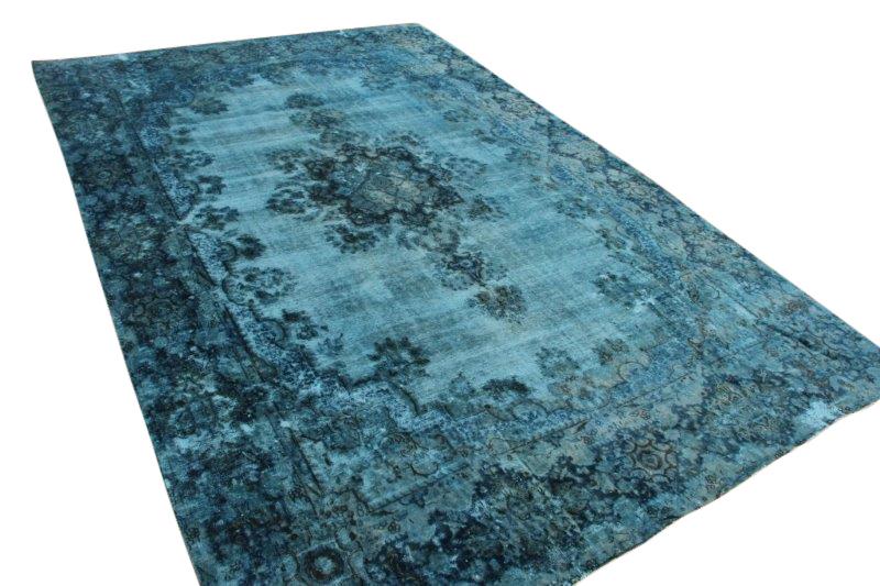 Blauw vintage vloerkleed 423cm x 277cm  (nr54236)