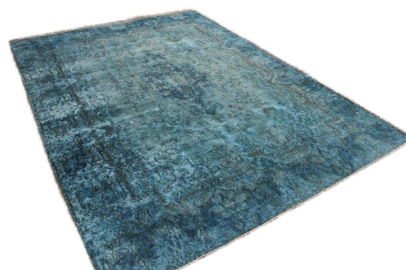 Blauw vintage vloerkleed 386cm x 282cm  (nr54238)