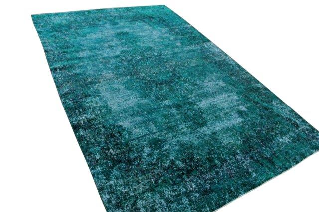 Turquoise vloerkleed 411cm x 268cm nr54689