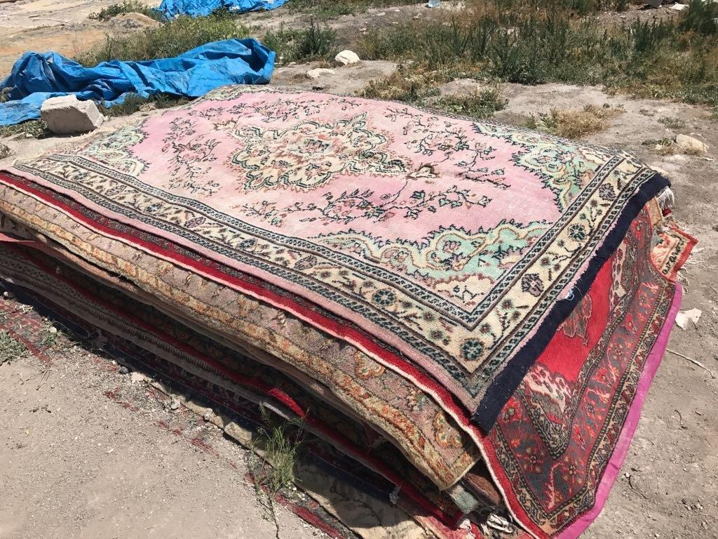 Vintage vloerkleed roze 297cm x 175cm nr547378