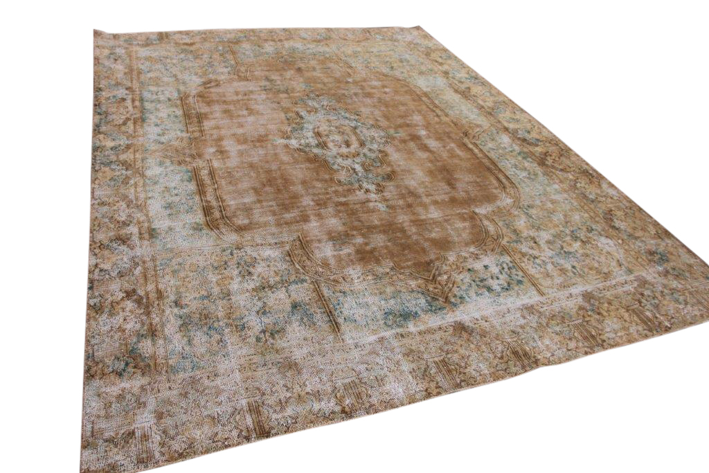 Vintage vloerkleed, zandkleurig 353cm x 266cm