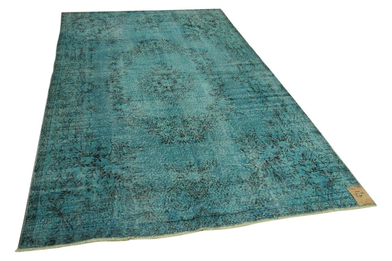 Vintage vloerkleed blauw 325cm x 195cm nr5615