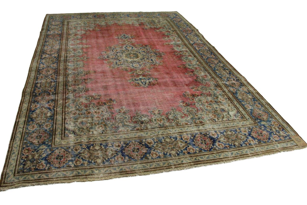 Vintage vloerkleed rood met blauw 370cm x 257cm nr56943