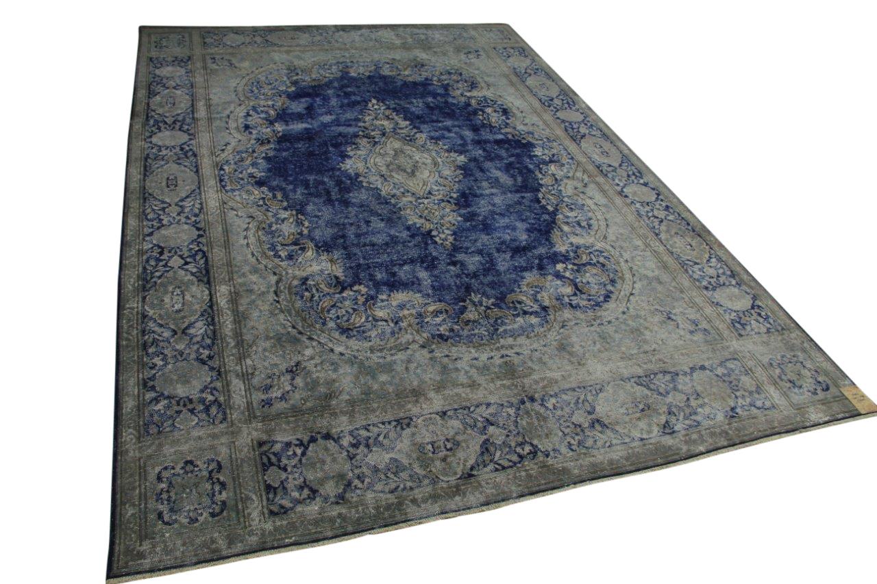 vintage vloerkleed blauw 440cm x 298cm nr56957