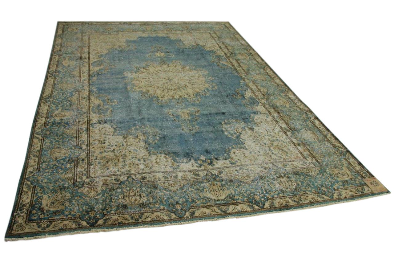 Vintage vloerkleed blauw 357cm x 275cm nr56969