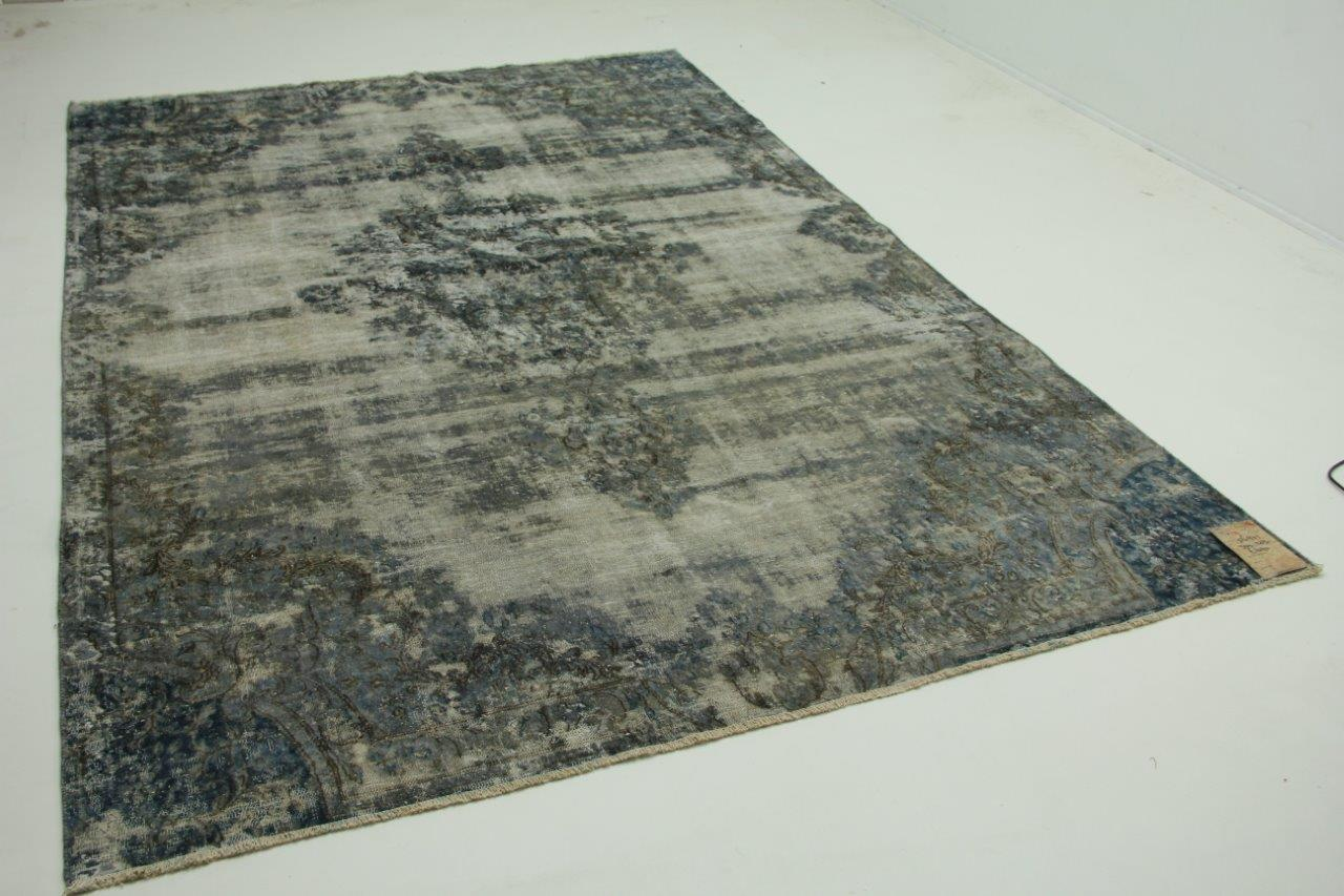Vintage vloerkleed grijs blauw 309cm x 203cm nr56971