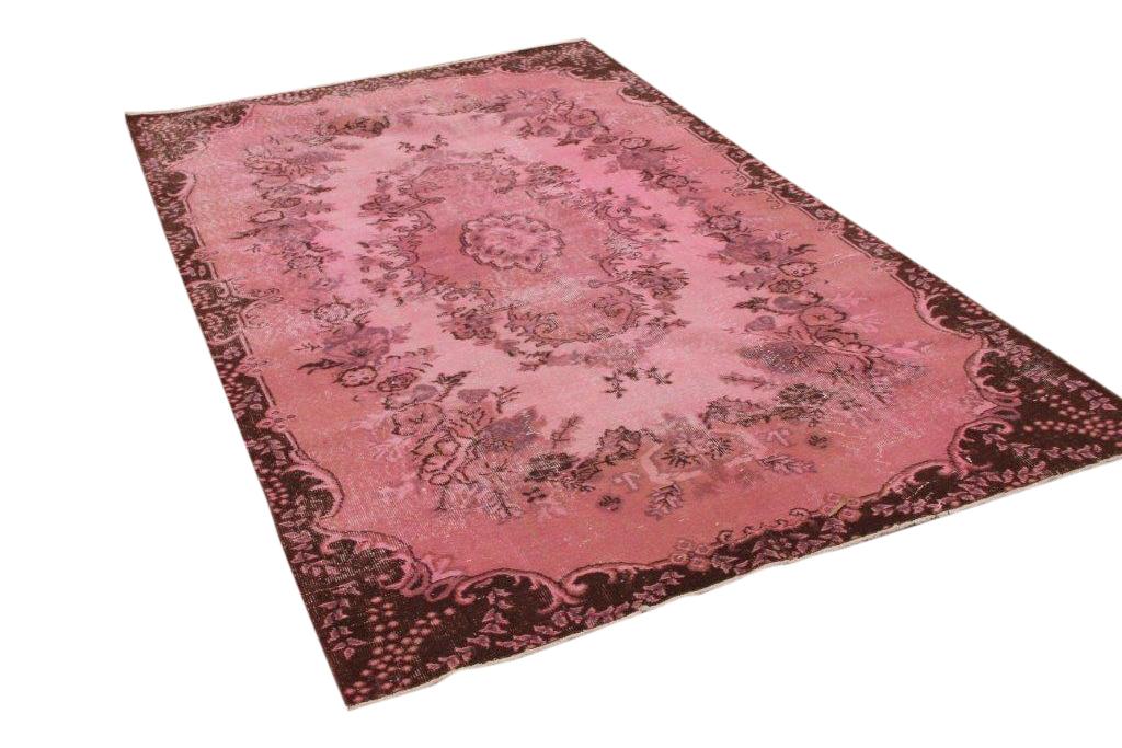 Roze vintage vloerkleed 267cm x 163cm nr7064