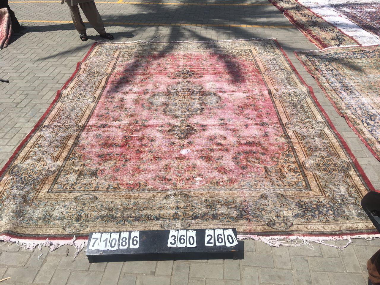 Vintage vloerkleed met rood 360cm x 260cm nr71086