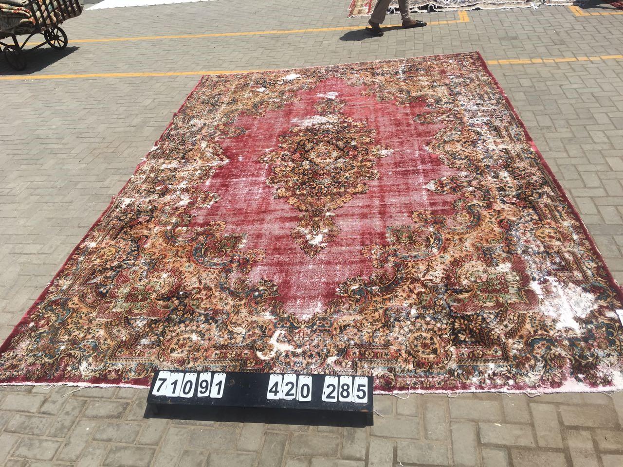Vintage vloerkleed rood 420cm x 285cm nr71091