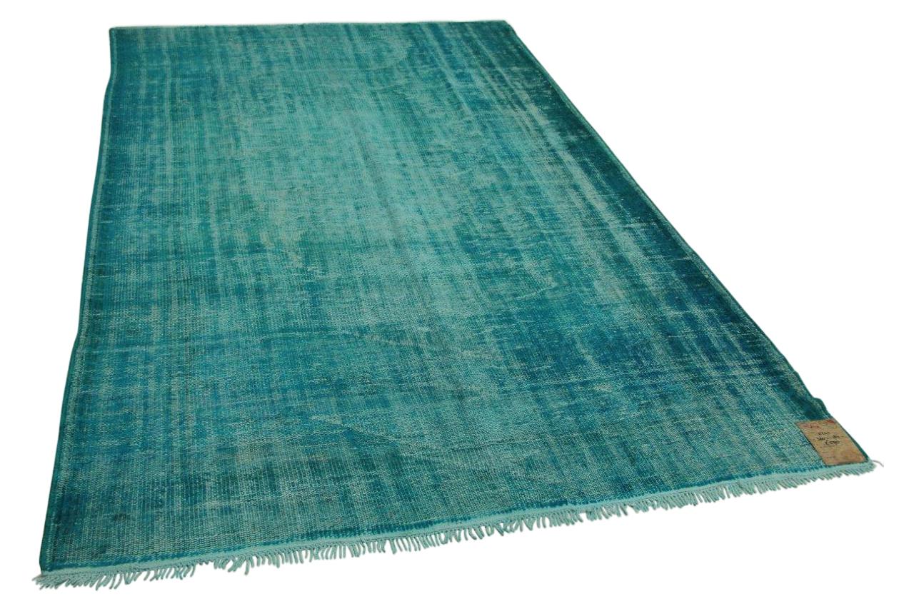 Vintage vloerkleed blauw 300cm x 184cm nr11241