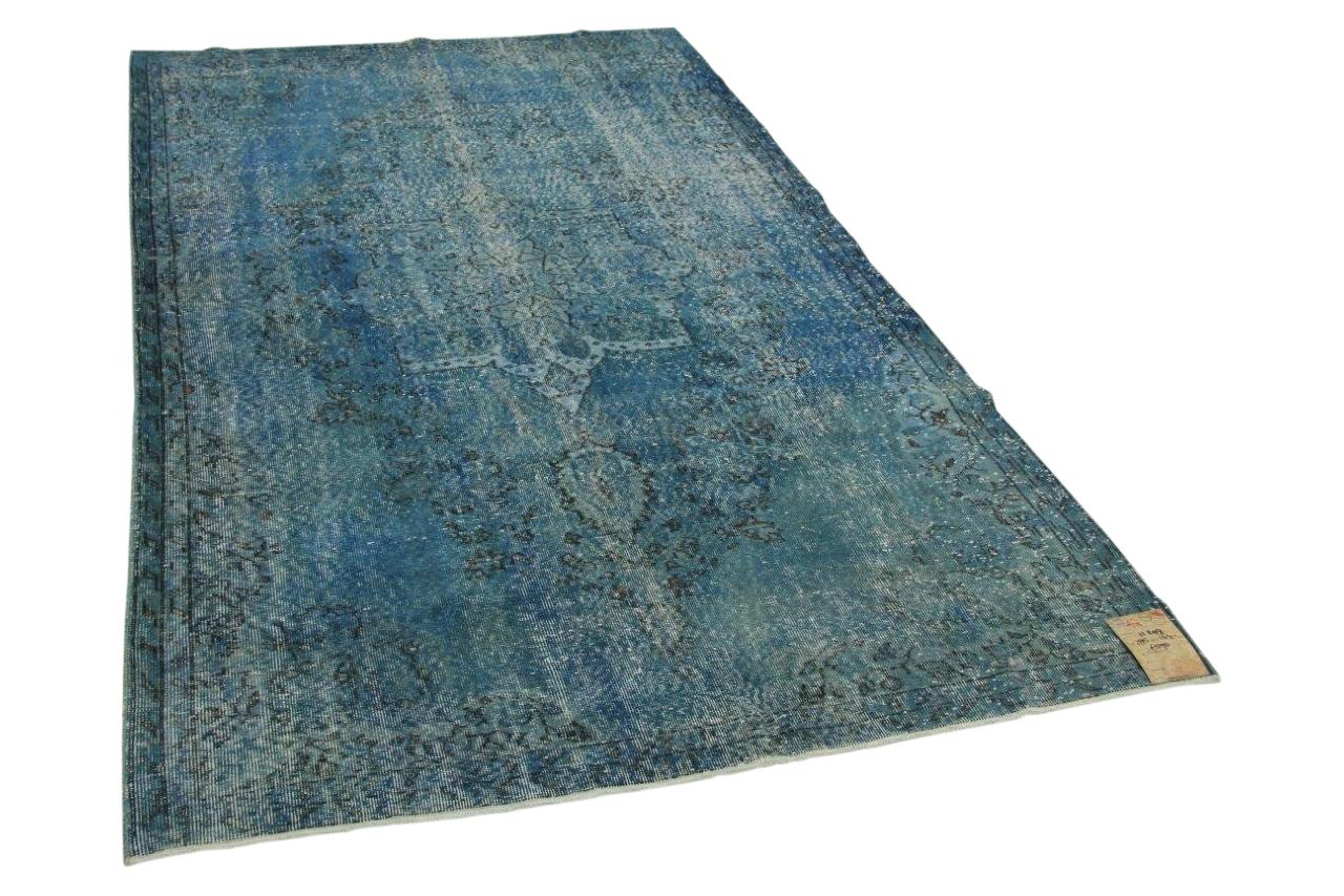 vintage vloerkleed blauw 285cm x 164cm nr11299