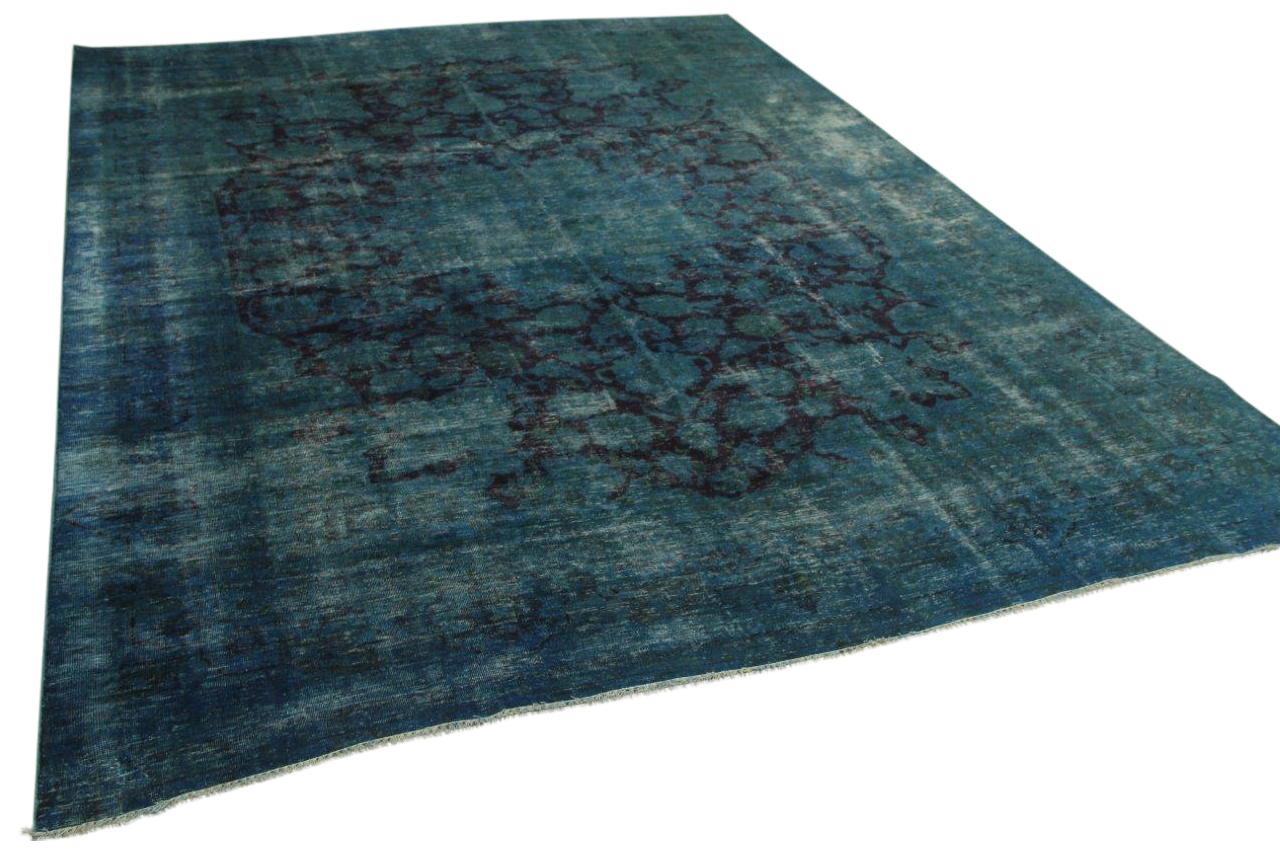 Vintage vloerkleed blauw 378cm x 277cm nr12214