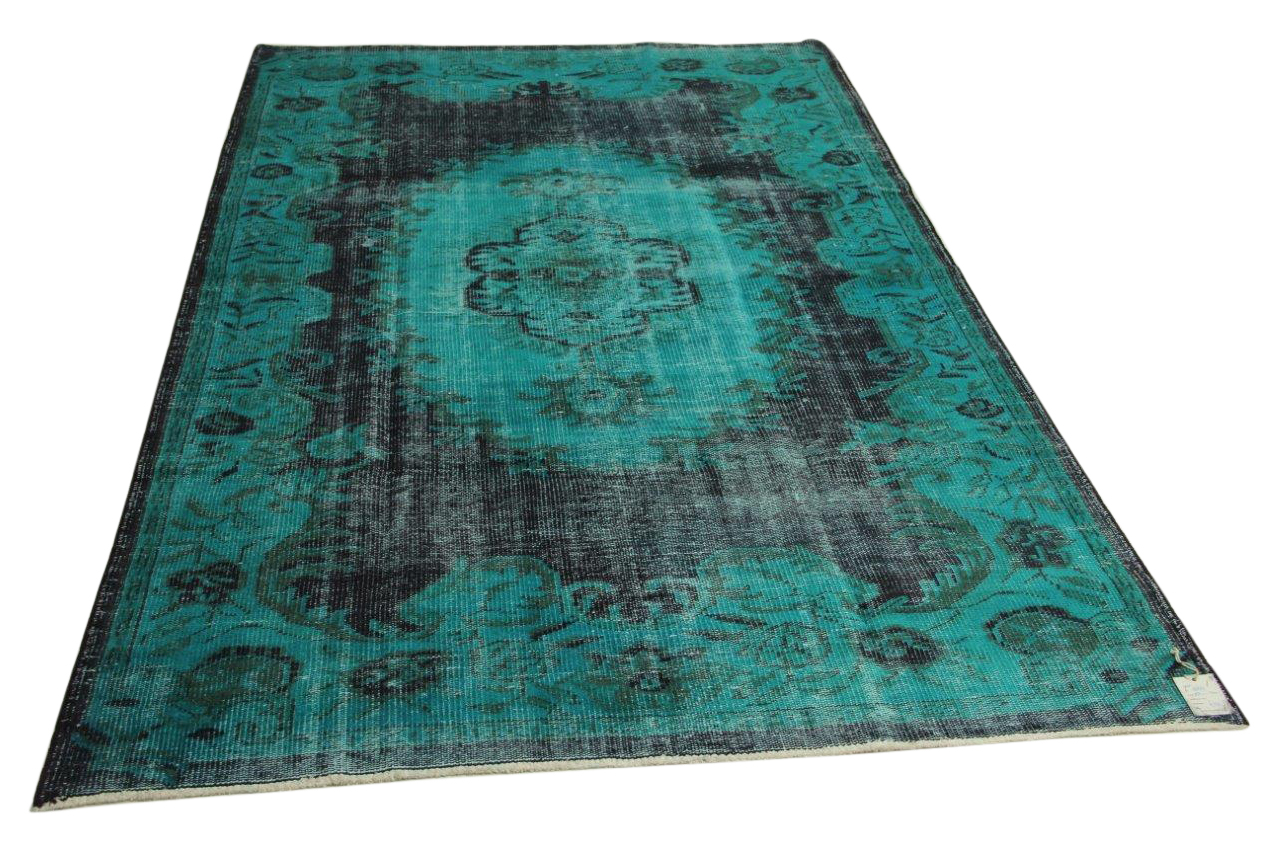 Vintage vloerkleed, blauw, 283cm x 171cm nr18827
