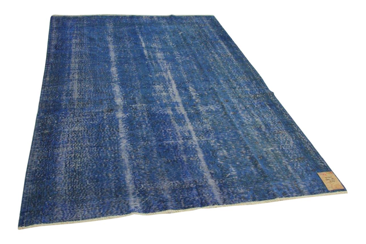 Vintage vloerkleed blauw 280cm x 183cm nr31240