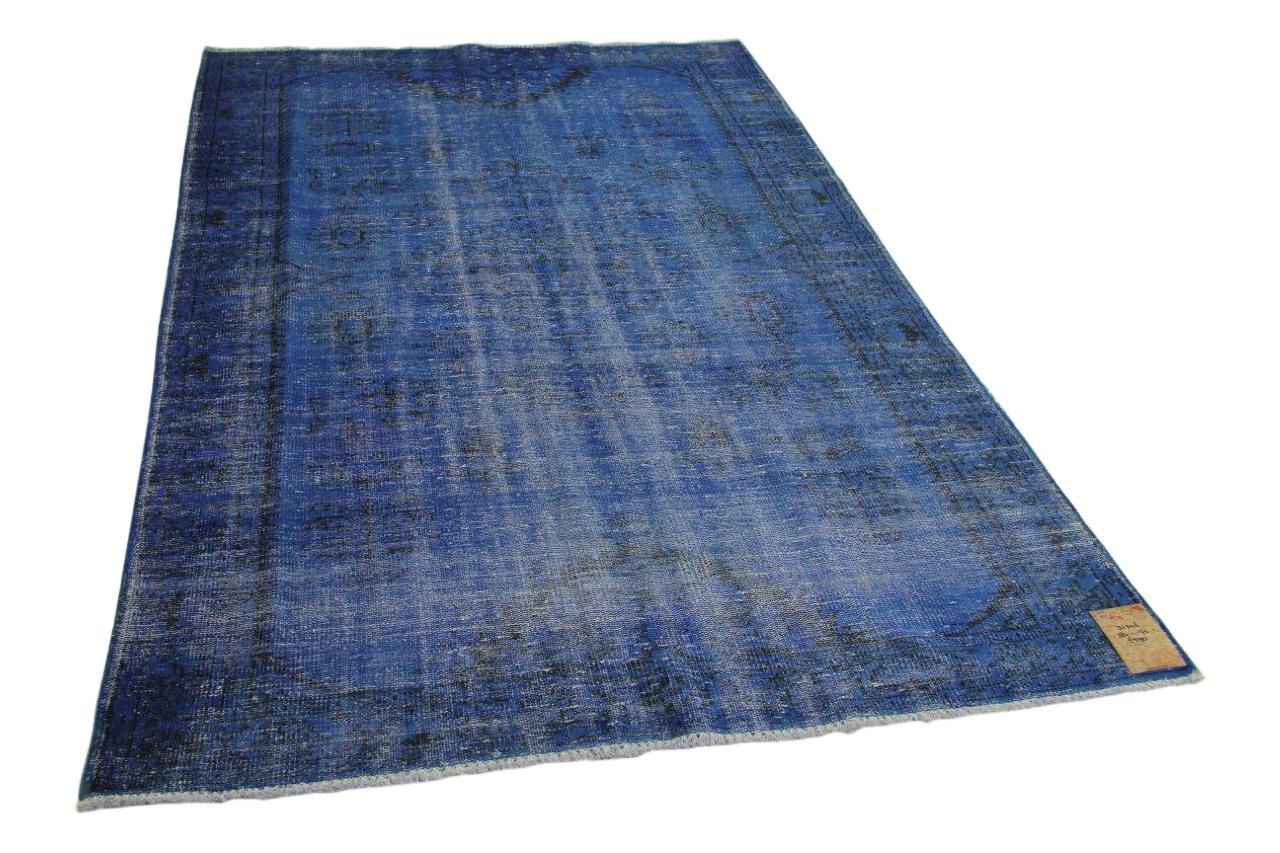 Vintage vloerkleed blauw 284cm x 174cm nr31346