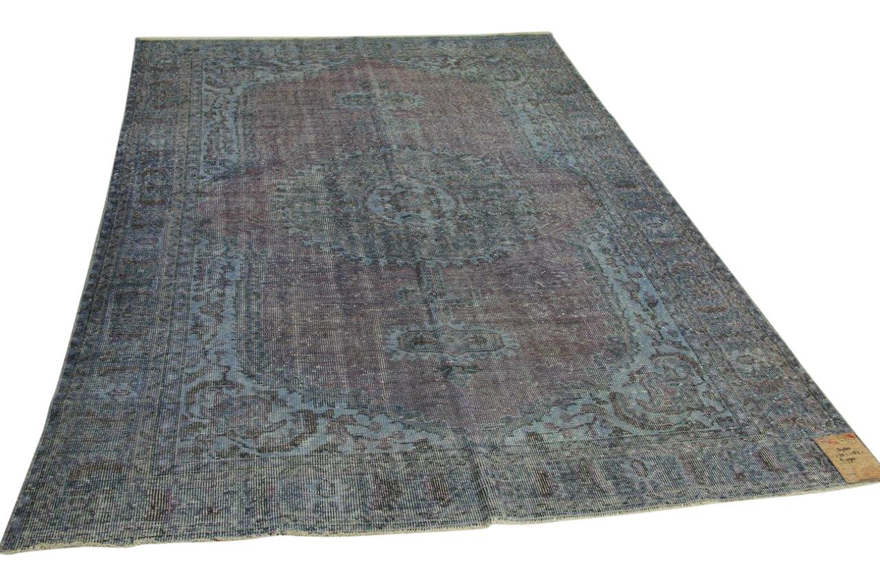 Vintage vloerkleed blauw 275cm x 187cm nr5460