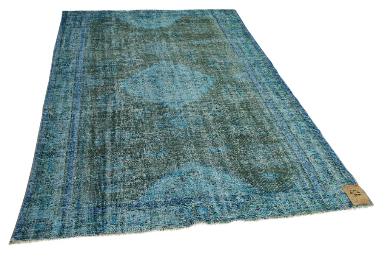 Vintage vloerkleed blauw 289cm x 180cm nr5483