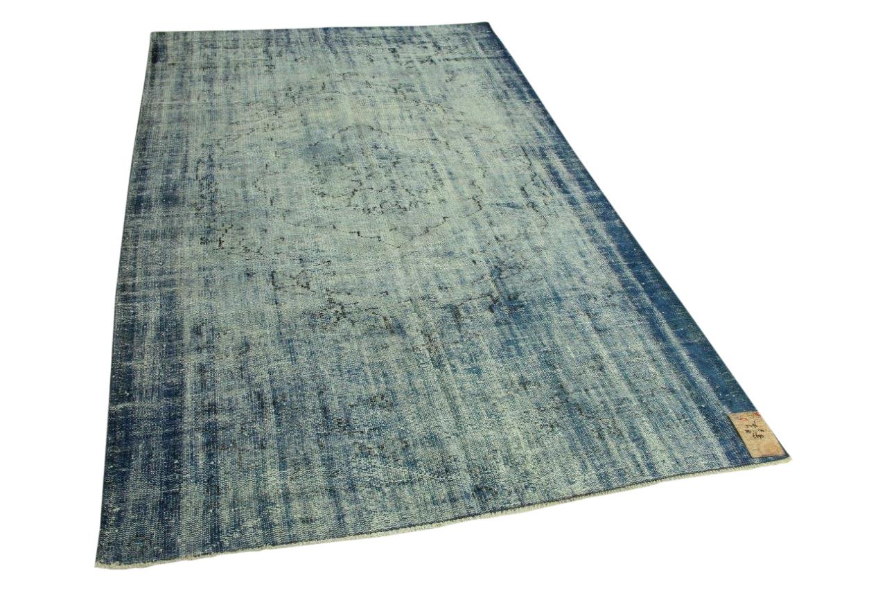 Vintage vloerkleed blauw 291cm x 170cm nr5496