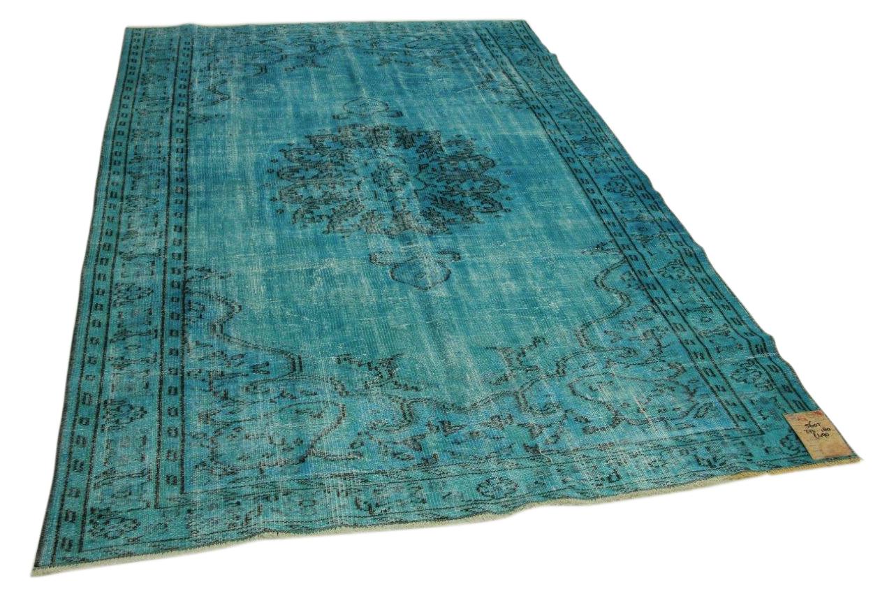Vintage vloerkleed blauw 272cm x 180cm nr5605