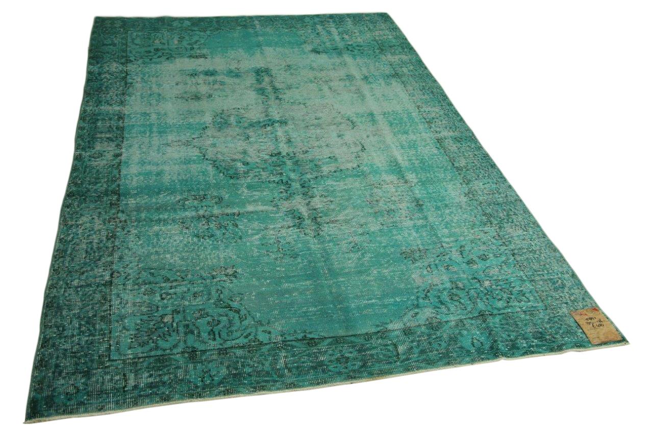 Vintage vloerkleed blauw 275cm x 176cm nr5851
