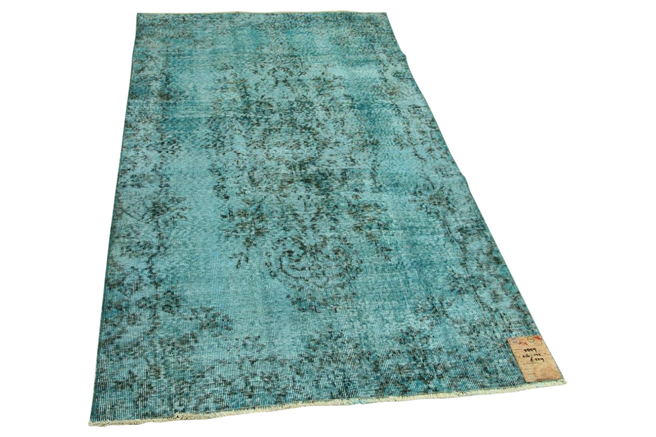 Vintage vloerkleed blauw 216cm x 122cm nr5859