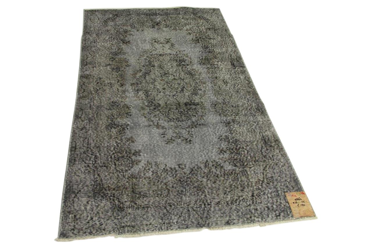 Vintage vloerkleed grijs 216cm x 115cm nr5863