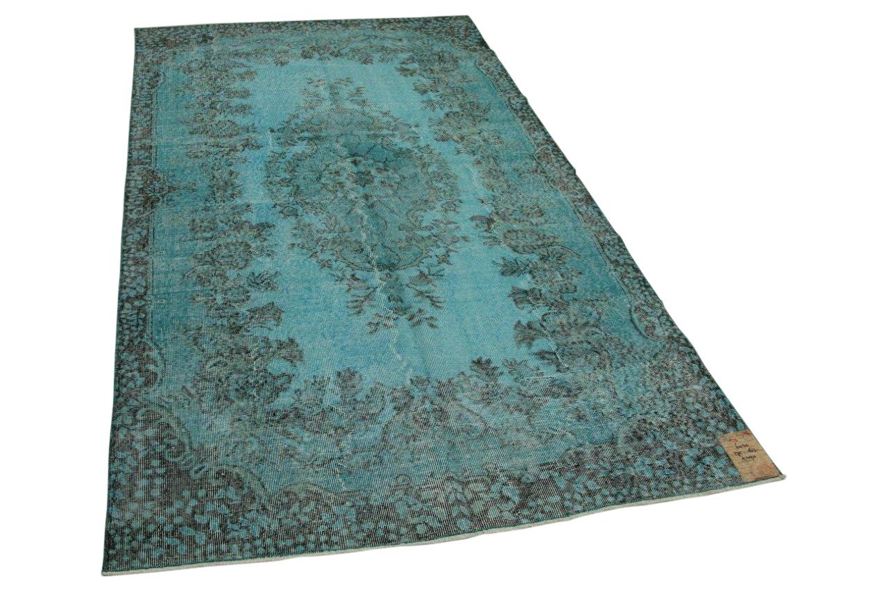 vintage vloerkleed blauw