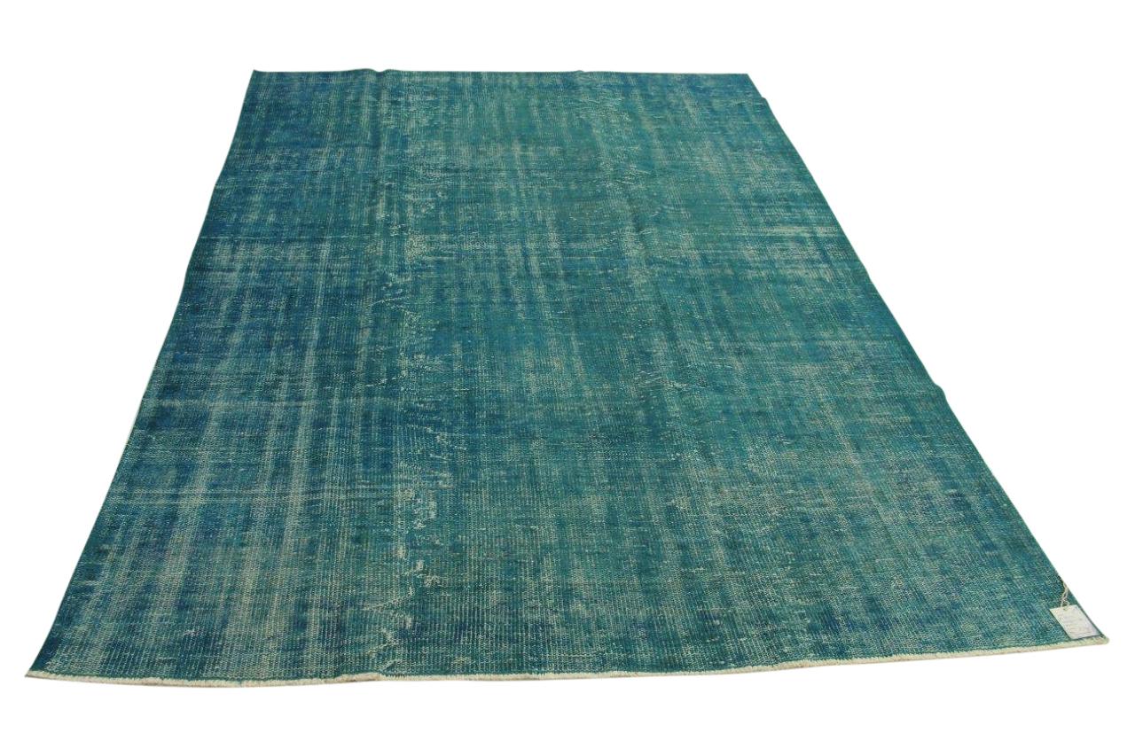 vintage vloerkleed, blauw, 278cm x 188cm
