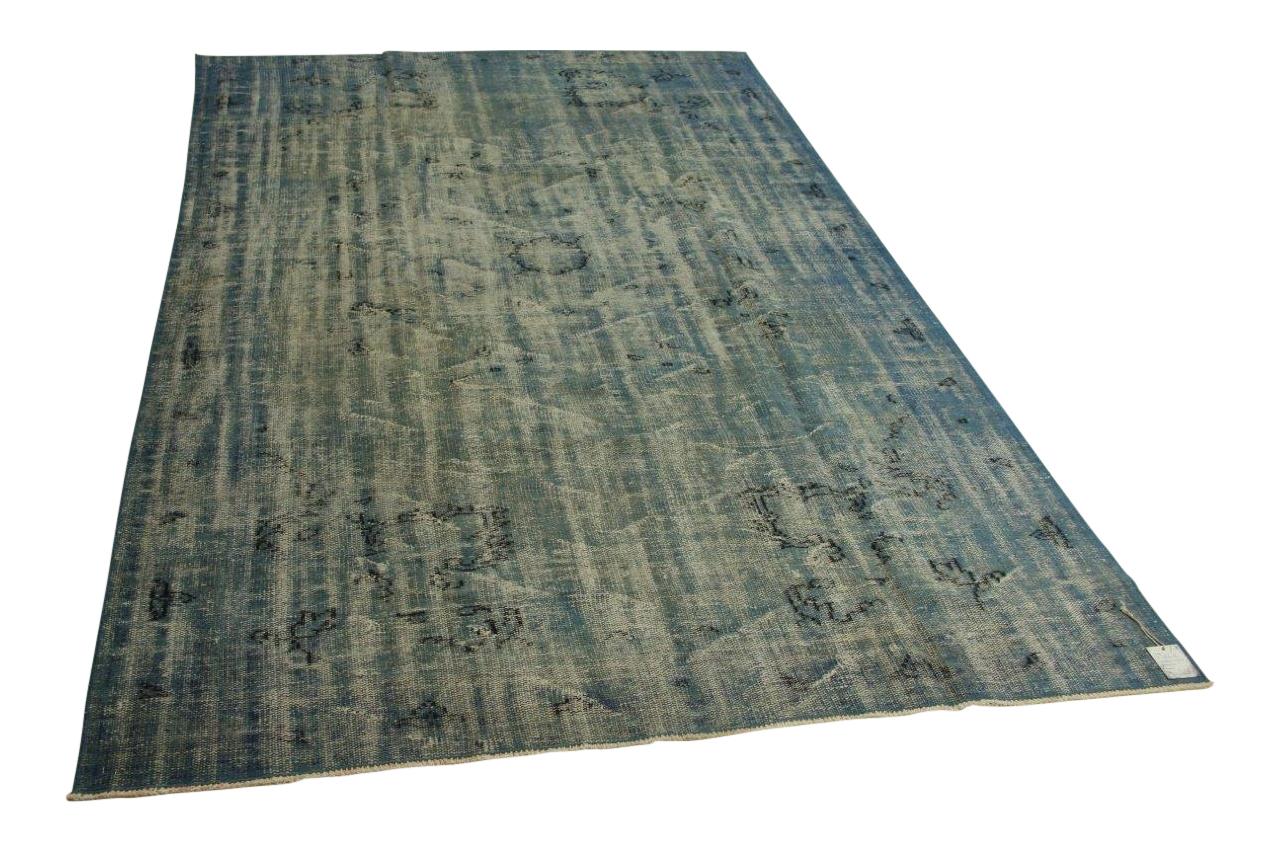 Vintage vloerkleed, blauw, 307cm x 190cm nr86616