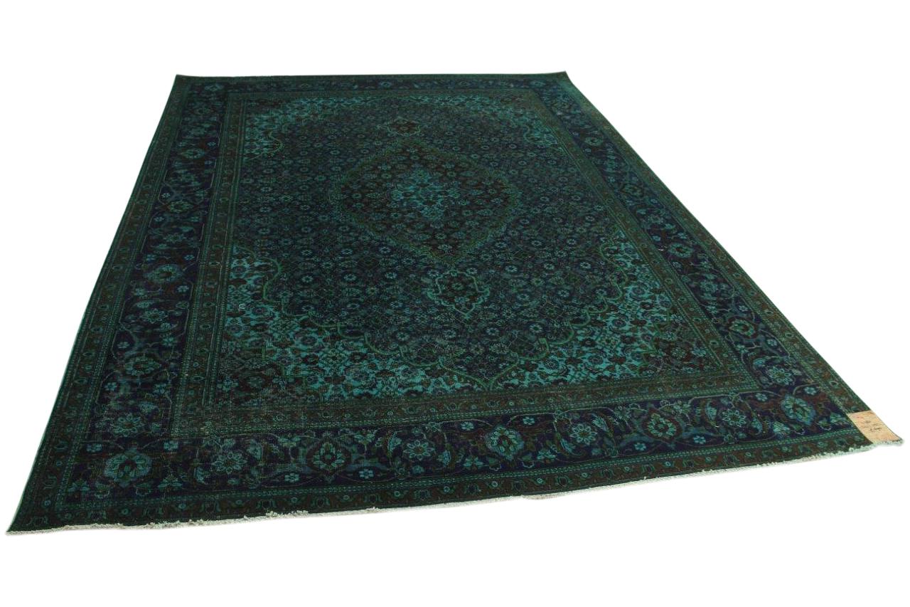 Vintage vloerkleed donkerblauw 347cm x 255cm nr11782