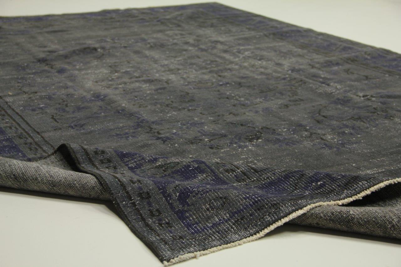 Vloerkleed Blauw Grijs : Vintage vloerkleed grijs blauw cm cm rozenkelim