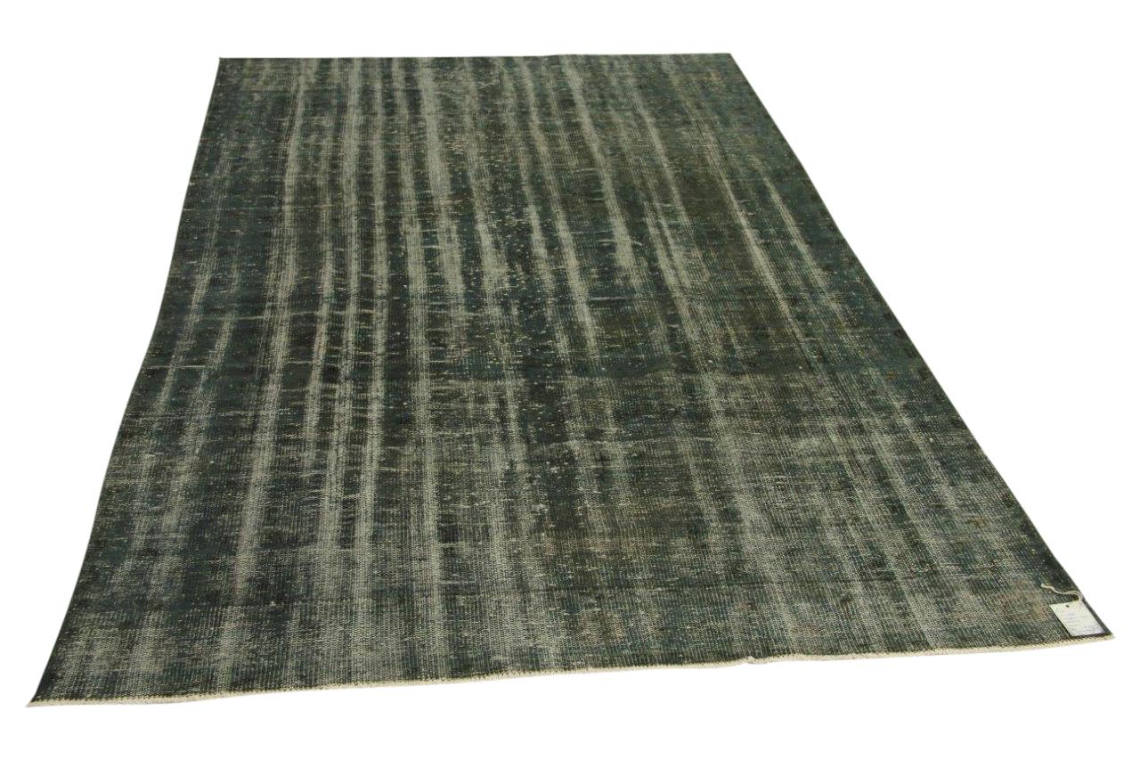 Vintage vloerkleed, grijs, groen, 283cm x 174cm nr11850