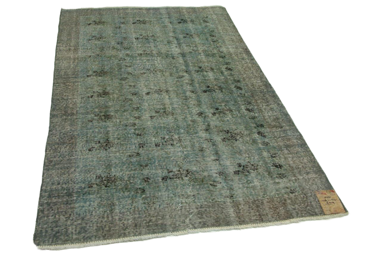 Vintage vloerkleed grijsblauw 246cm x 147cm nr11231